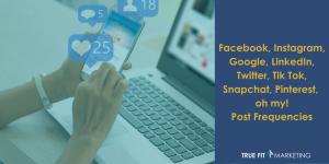 Facebook, Instagram, Google, LinkedIn, Twitter, Tik Tok, Snapchat, Pinterest, oh my!